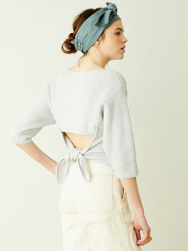 back knot top
