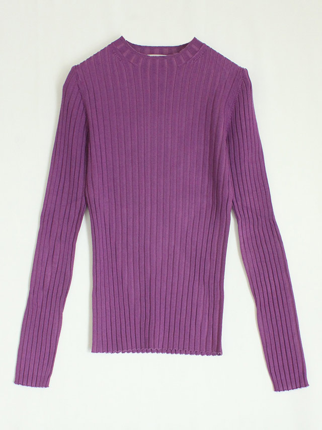 silk cashmere rib top