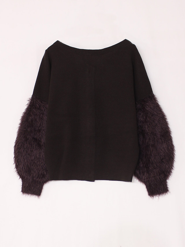 2way sleeve shaggy top