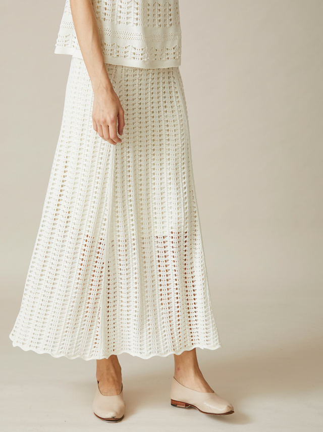 vintage crochet knit skirt
