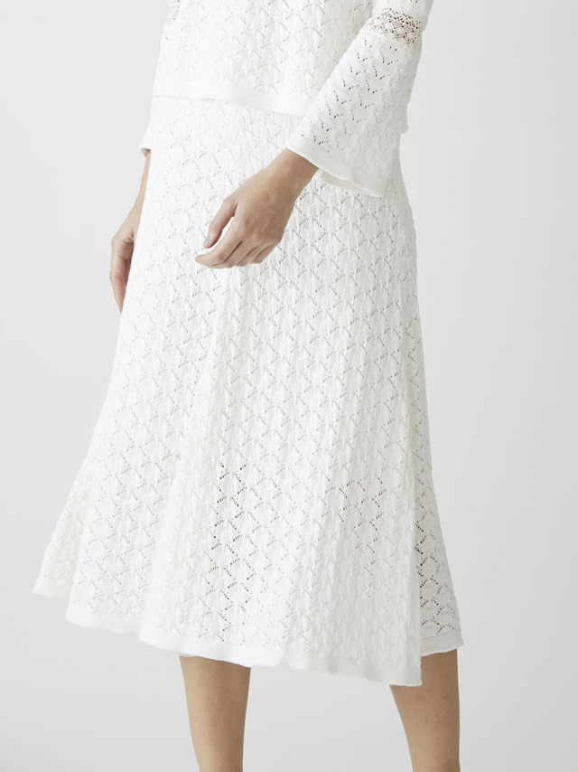 cotton crochet knit skirt