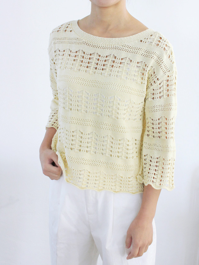 2way vintage crochet knit