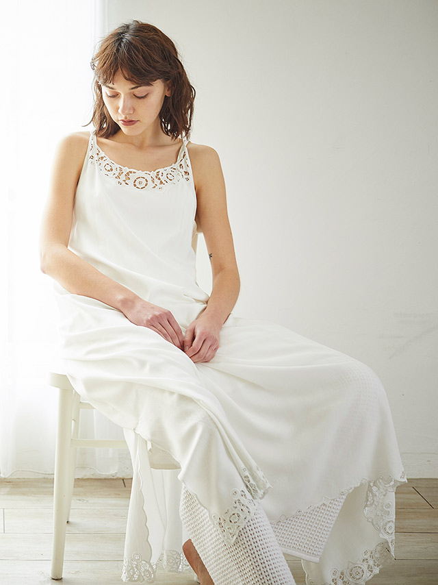 embloidery camisole dress