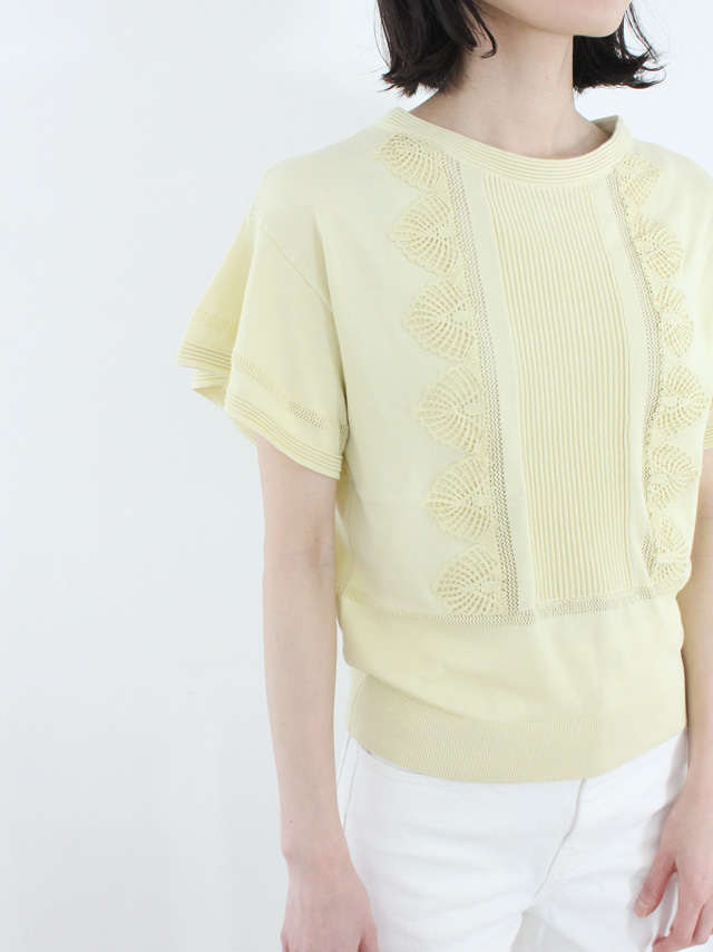 cotton race knit top