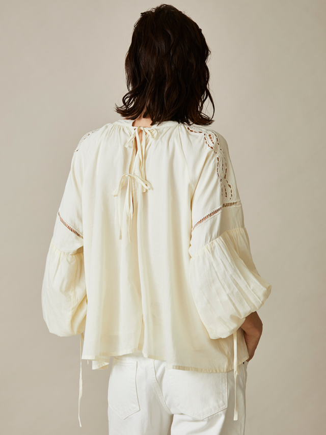cotton cut work blouse