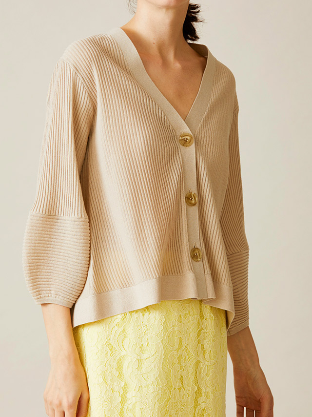 shear ripple knit cardigan