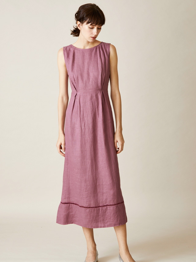 back shan linen dress
