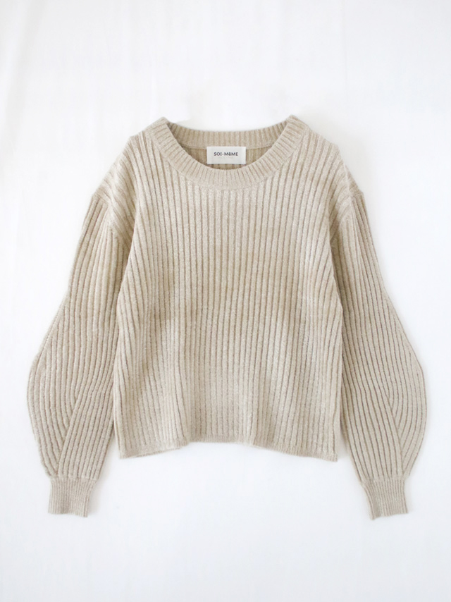 velour rib knit pull over