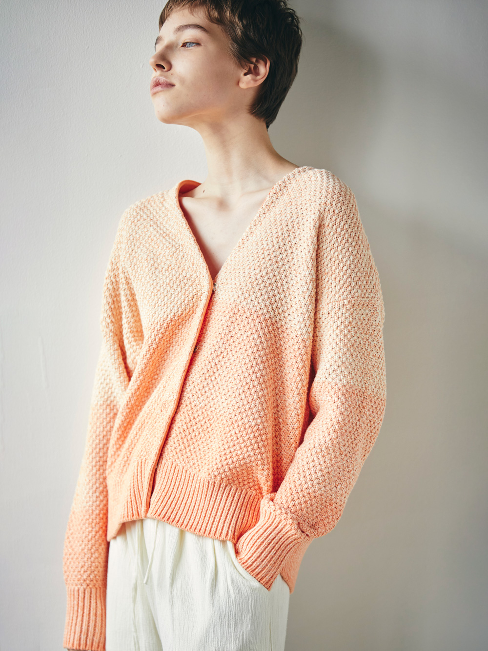 gradation knit cardigan