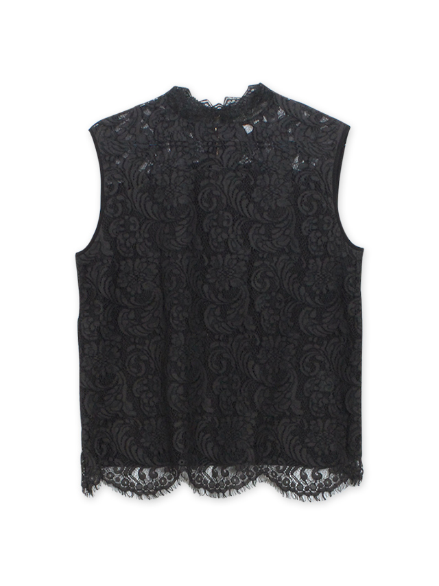 lace stand collar tops